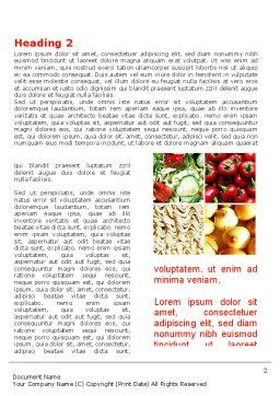 Foodstuffs Word Template, First Inner Page, 09170, Agriculture and Animals — PoweredTemplate.com