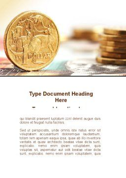 Australian Dollar Word Template Cover Page
