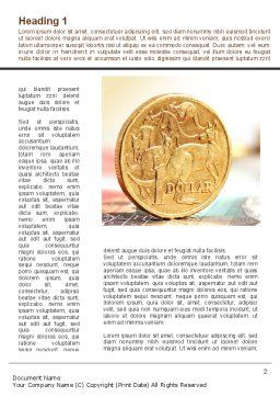 Australian Dollar Word Template First Inner Page