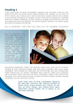 Reading Book in Early Childhood Word Template, First Inner Page, 09173, People — PoweredTemplate.com