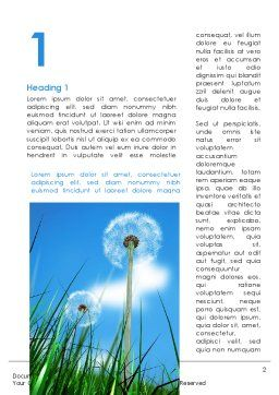 Dandelion Field Word Template First Inner Page