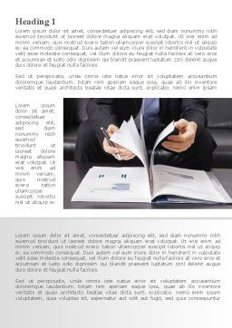Open Book Study Word Template, First Inner Page, 09177, Business Concepts — PoweredTemplate.com