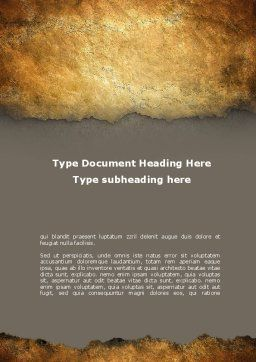 Old Parchment Word Template, Cover Page, 09181, Nature & Environment — PoweredTemplate.com