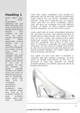 Crystal Shoe Word Template, First Inner Page, 09182, Utilities/Industrial — PoweredTemplate.com