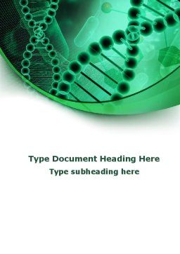 DNA Study Word Template, Cover Page, 09183, Medical — PoweredTemplate.com
