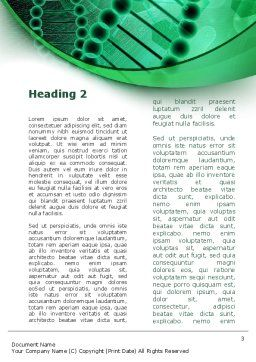 DNA Study Word Template, Second Inner Page, 09183, Medical — PoweredTemplate.com