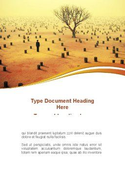 Appearance of Desert Word Template Cover Page