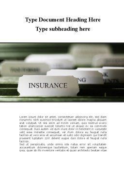 Insurance Tab Word Template, Cover Page, 09185, Business — PoweredTemplate.com