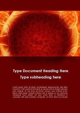 Red Sphere Word Template, Cover Page, 09186, Technology, Science & Computers — PoweredTemplate.com