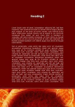 Red Sphere Word Template, Second Inner Page, 09186, Technology, Science & Computers — PoweredTemplate.com