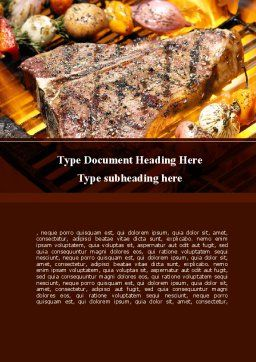 Stake Word Template, Cover Page, 09188, Food & Beverage — PoweredTemplate.com