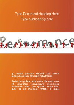Performance Word Template, Cover Page, 09190, Consulting — PoweredTemplate.com