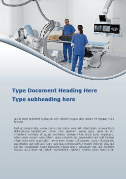 Tomography Equipment Word Template, Cover Page, 09191, Medical — PoweredTemplate.com