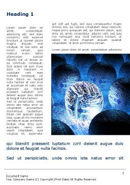 Cyber Brain Word Template, First Inner Page, 09192, Technology, Science & Computers — PoweredTemplate.com