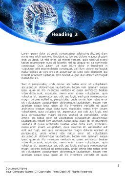 Cyber Brain Word Template, Second Inner Page, 09192, Technology, Science & Computers — PoweredTemplate.com