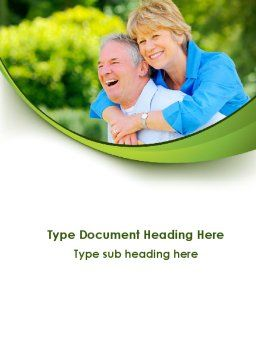 Elderly Man And Woman Word Template, Cover Page, 09193, People — PoweredTemplate.com