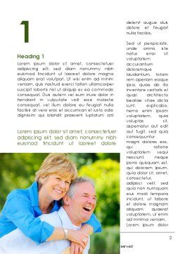 Elderly Man And Woman Word Template, First Inner Page, 09193, People — PoweredTemplate.com