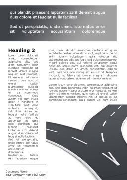 Roads Fork Word Template, First Inner Page, 09194, Consulting — PoweredTemplate.com
