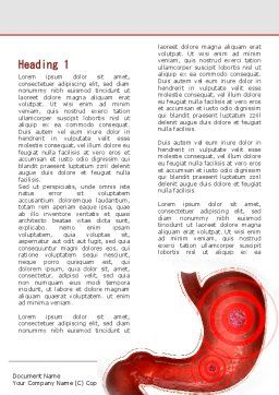 Stomach Ache Word Template, First Inner Page, 09200, Medical — PoweredTemplate.com