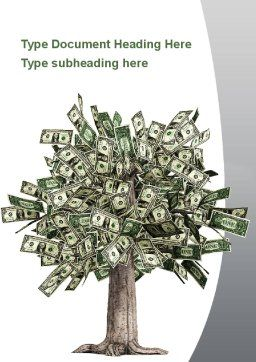 Mature Money Tree Word Template, Cover Page, 09208, Financial/Accounting — PoweredTemplate.com