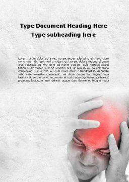 Headache Word Template, Cover Page, 09212, Medical — PoweredTemplate.com