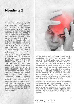 Headache Word Template, First Inner Page, 09212, Medical — PoweredTemplate.com
