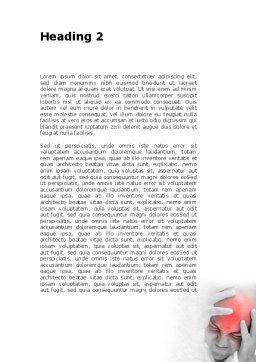 Headache Word Template, Second Inner Page, 09212, Medical — PoweredTemplate.com