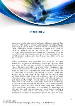 Bright Abstract Gear Word Template, Second Inner Page, 09214, Careers/Industry — PoweredTemplate.com