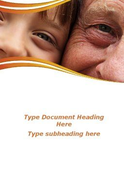 Grandfather And Grandson Word Template, Cover Page, 09215, People — PoweredTemplate.com
