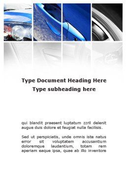 Car Parts Word Template, Cover Page, 09218, Cars/Transportation — PoweredTemplate.com