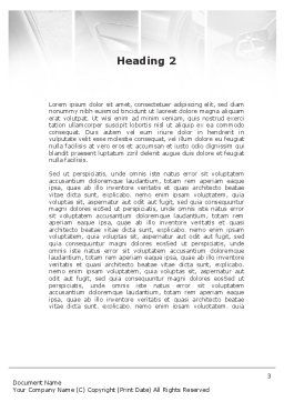 Car Parts Word Template, Second Inner Page, 09218, Cars/Transportation — PoweredTemplate.com