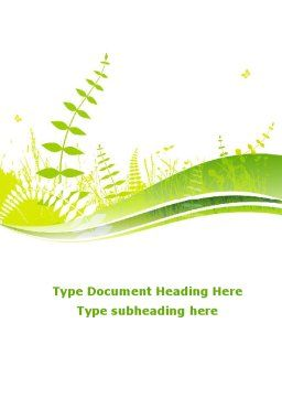 Grass Field Word Template Cover Page