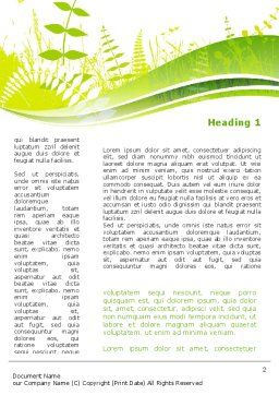 Grass Field Word Template First Inner Page
