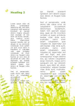 Grass Field Word Template Second Inner Page