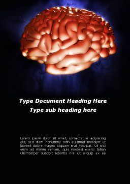 Human Brain in Three Dimensions Word Template, Cover Page, 09223, Medical — PoweredTemplate.com