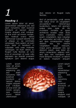 Human Brain in Three Dimensions Word Template, First Inner Page, 09223, Medical — PoweredTemplate.com