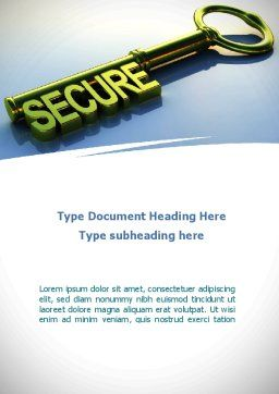 Secure Key Word Template, Cover Page, 09224, Construction — PoweredTemplate.com