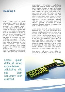 Secure Key Word Template, First Inner Page, 09224, Construction — PoweredTemplate.com