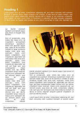 Winner Goblets Word Template, First Inner Page, 09229, Sports — PoweredTemplate.com
