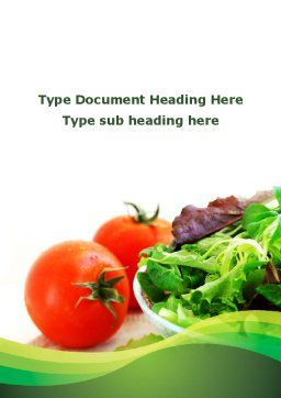 Salad with Tomatoes Word Template Cover Page