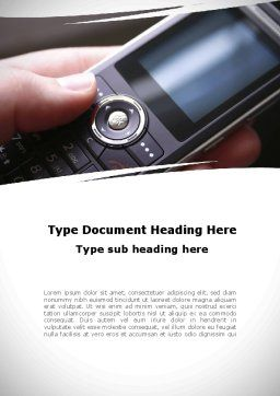 Cellular Phone Word Template, Cover Page, 09231, Telecommunication — PoweredTemplate.com