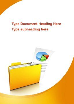 Folder with Diagram Word Template, Cover Page, 09232, Consulting — PoweredTemplate.com