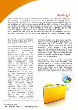 Folder with Diagram Word Template, First Inner Page, 09232, Consulting — PoweredTemplate.com