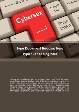 Cybersex Word Template, Cover Page, 09235, Technology, Science & Computers — PoweredTemplate.com