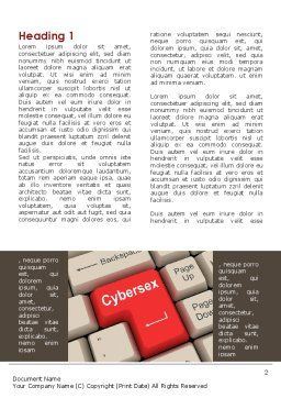Cybersex Word Template, First Inner Page, 09235, Technology, Science & Computers — PoweredTemplate.com