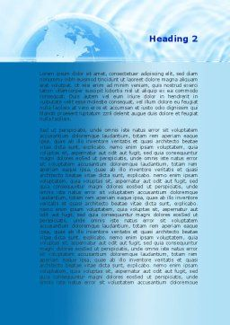 Globe in Blue Colors Word Template Second Inner Page