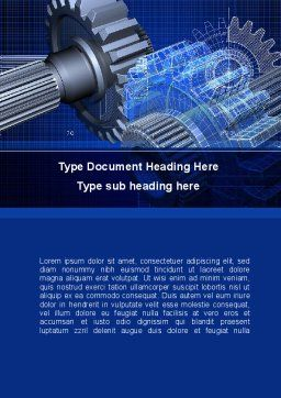 Design of Machines Word Template, Cover Page, 09240, Utilities/Industrial — PoweredTemplate.com