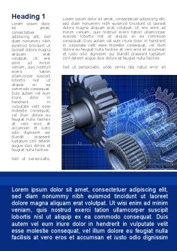 Design of Machines Word Template, First Inner Page, 09240, Utilities/Industrial — PoweredTemplate.com