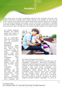 Student Reading a Book Word Template, First Inner Page, 09242, People — PoweredTemplate.com
