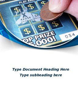 Scratch Card Word Template, Cover Page, 09244, Careers/Industry — PoweredTemplate.com